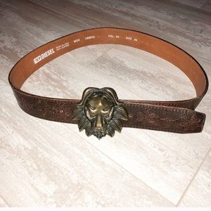 Leather Diesel Lion Belt